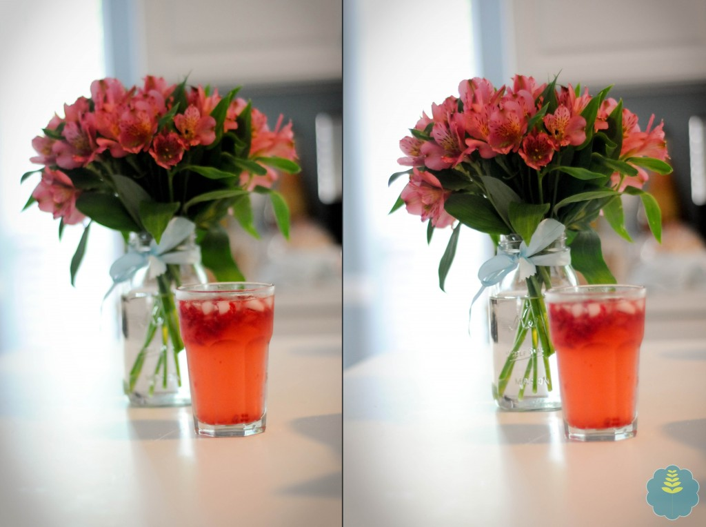 The guy who made me this yummy drink and brought home these flowers is back in the office this week. . . and I miss having him around.